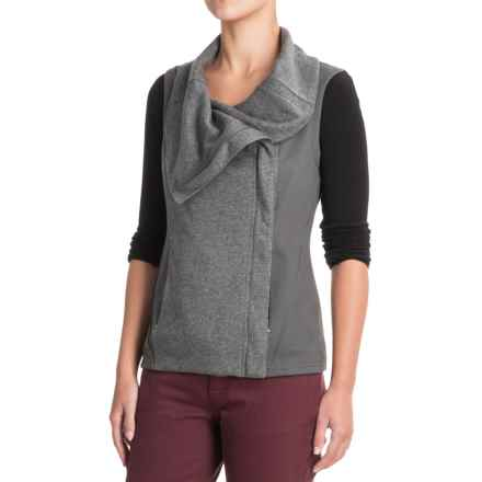 Indigenous Organic Cotton Knit Collar Vest (For Women) in Rock - Closeouts