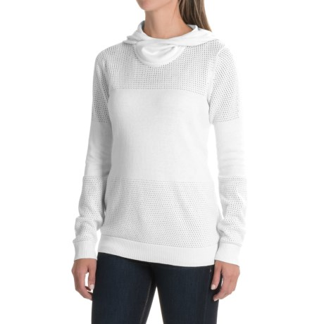Indigenous Organic Cotton Netted Scuba Hoodie (For Women) in White