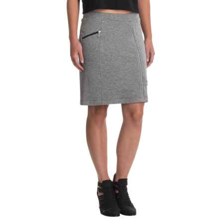 Indigenous Organic Cotton Zip Pocket Skirt - Short (For Women) in Charcoal - Closeouts