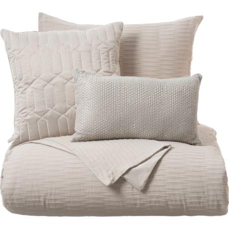1e9c1f84fe Indigo Collection Babloa Nora Textured Comforter Set with Throw Pillows -  Queen