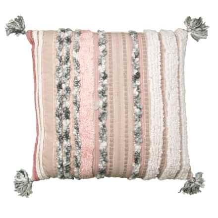 "Indigo Collection Riviera Textured Euro Throw Pillow - 26x26"" in Multi - Closeouts"