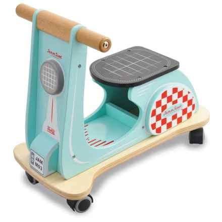 indigo Jamm Jamm Scoot Aqua Racer Wood Toy in Aqua - Closeouts