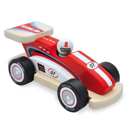 indigo Jamm Racing Rocky Wood Toy in Red - Closeouts