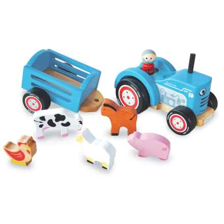 indigo Jamm Tractor Tim Wood Toy in Blue - Closeouts