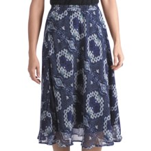 Indira Crepe Print Skirt (For Women) in Blue Batik - Closeouts