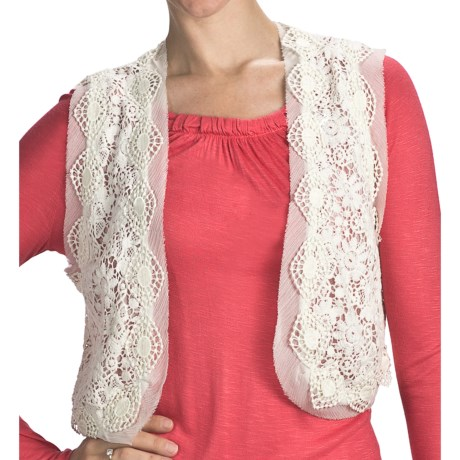 Indira Crocket Vest (For Women) in Cream