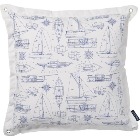 Indoor-Outdoor Delfino Boat Throw Pillow - 20x20?,