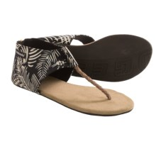 Indosole Ikhanna Sandals (For Women) in Black Palm - Closeouts