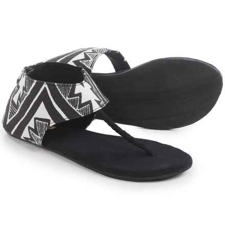 Indosole Ikhanna Sandals (For Women) in Trails Black/White - Closeouts