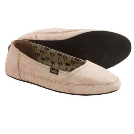 Indosole Kelapa Espadrilles (For Women) in Light Pink Floral - 2nds