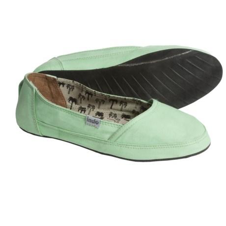 Indosole Kelapa Espadrilles (For Women) in Mint Green