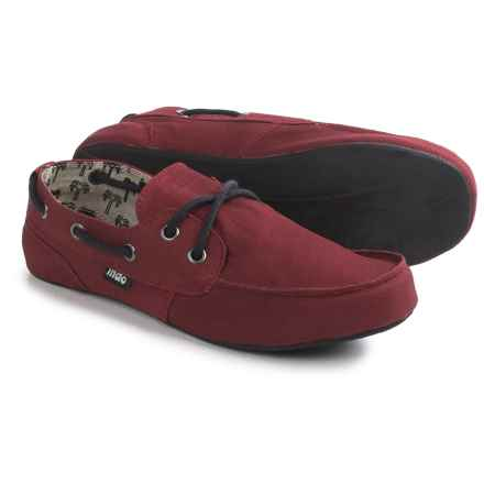 Indosole Prahu Boat Shoes - Cotton Canvas (For Women) in Port Red - Closeouts