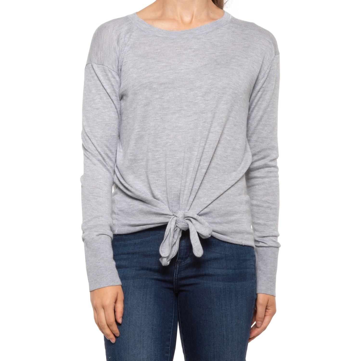 INDUSTRY ACTIVE Tie Front Knit Sweater (For Women) Save 32%