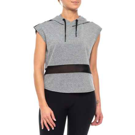Industry Hooded Shirt - Sleeveless (For Women) in Grey Melange/Black - Closeouts