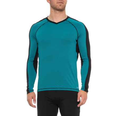 Industry Supply Co V-Neck T-Shirt - Long Sleeve (For Men) in Moroccan Ocean - Closeouts
