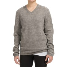 Inhabit Alpaca-Blend V-Neck Sweater (For Women) in Grey - Closeouts
