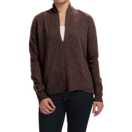 Inhabit Deep-V Cashmere Sweater (For Women) in Quill - Closeouts