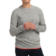 Inhabit Honeycomb Heathered Sweater - Crew Neck (For Women) in Grey - Closeouts