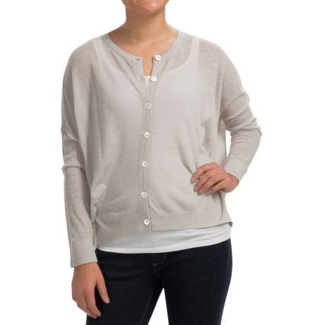 Inhabit Solid Wool Blend Cardigan Sweater (For Women)