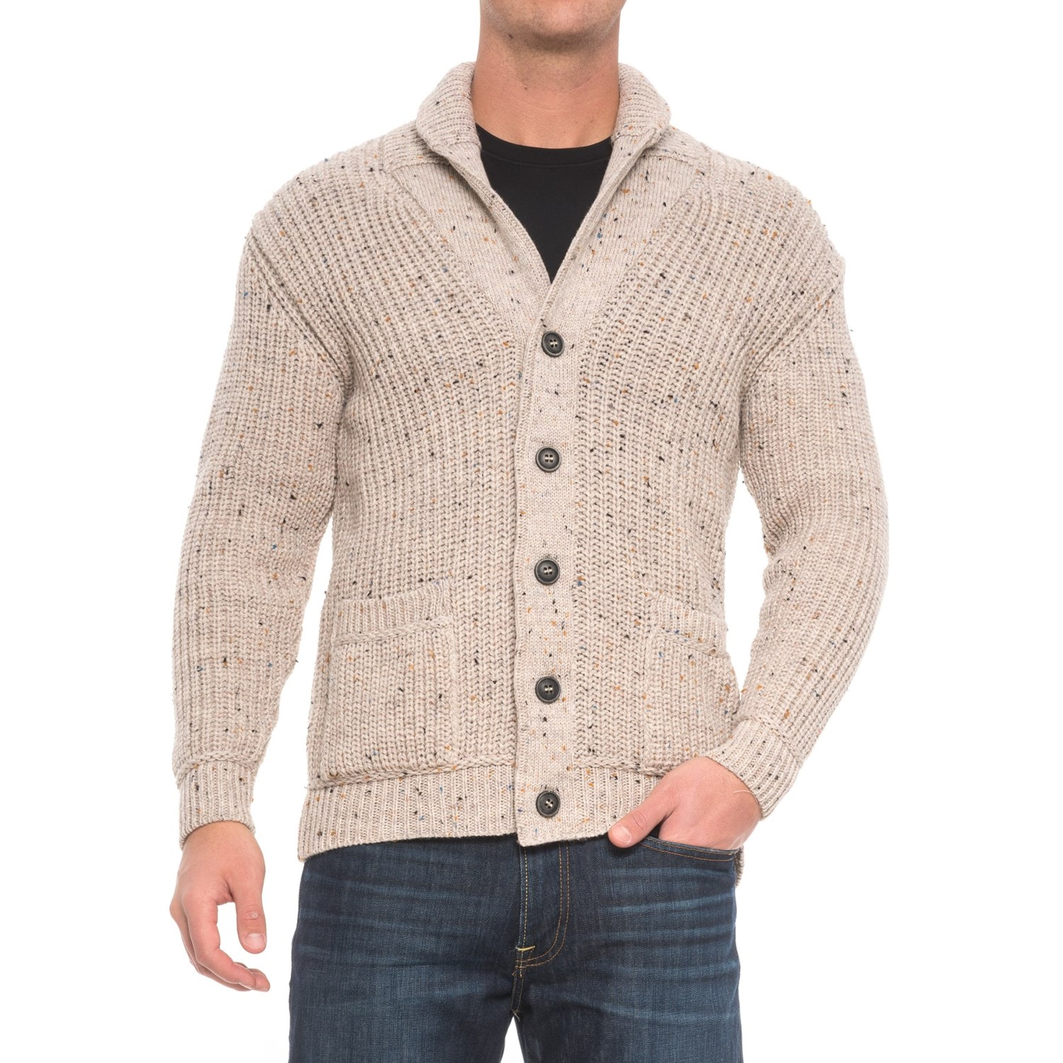Inis crafts ribbed shawl cardigan sweater for men save 61 for Inis crafts sweater price