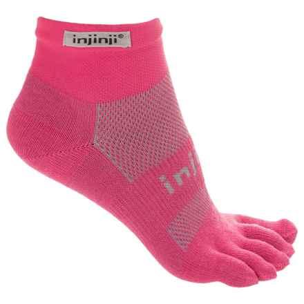 Injinji Run Toe Socks - Quarter Crew (For Men) in Canyon Pink - Closeouts