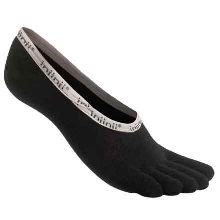 Injinji Sport Hidden Toe Socks - Below the Ankle (For Men and Women) in Black - Closeouts