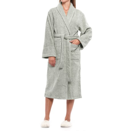 Ink+Ivy Cotton Loop Terry Robe - Shawl Collar (For Women) in Taupe