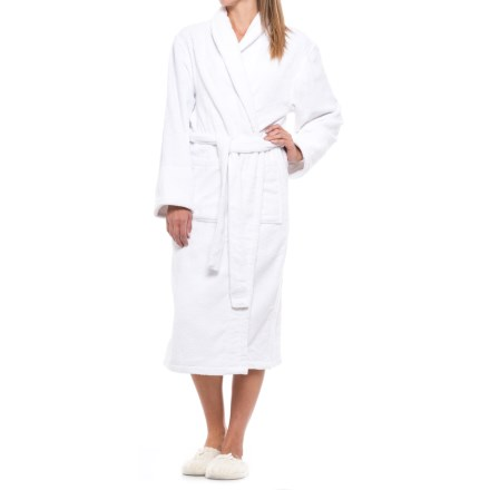 Ink+Ivy Cotton Loop Terry Robe - Shawl Collar (For Women) in White 1e48dcec1