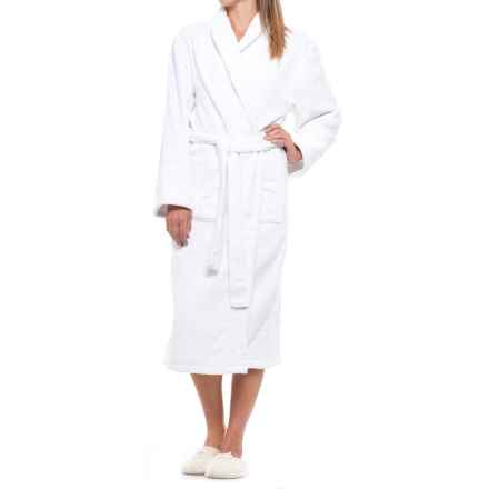 Ink+Ivy Cotton Loop Terry Robe - Shawl Collar (For Women) in White - Closeouts