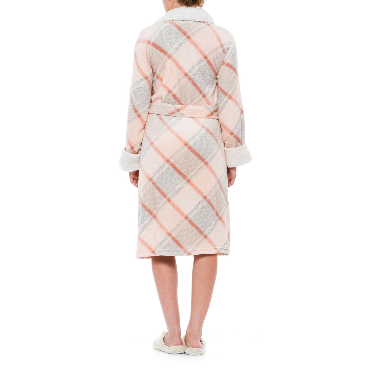 Ink+Ivy Plush Plaid Robe - Long Sleeve (For Women) b1060f85d