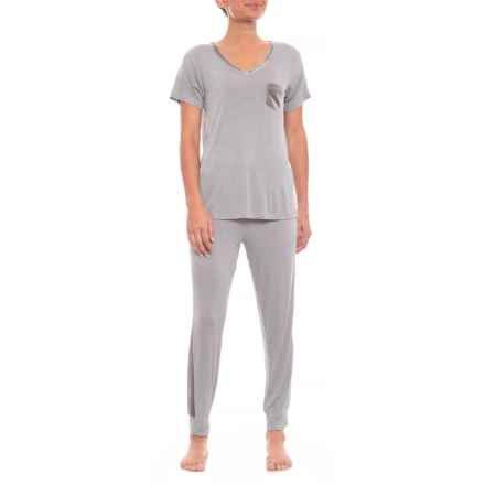 77616b6bf7e8 Clearance. Ink+Ivy Rayon Spandex Jogger Set with Velvet Trim (For Women) in  Neat