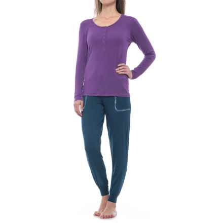 Ink+Ivy Shirt and Jogger Pajamas - Long Sleeve (For Women) in Legion Blue - Closeouts
