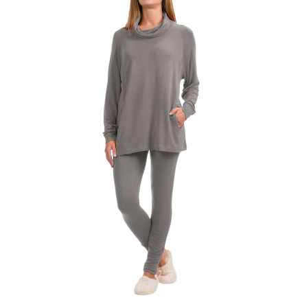 Ink+Ivy Terry Cowl Neck Shirt and Leggings Set - 2-Piece, Long Sleeve (For Women) in Silver - Closeouts