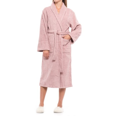 Ink+Ivy Terry Robe - Long Sleeve (For Women) in Rose