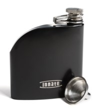 Innate Trad Stainless Steel Flask - 6 fl.oz. in Black Matte - Closeouts