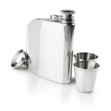 Innate Trad Stainless Steel Flask Set - 6 fl.oz. in Stainless - Closeouts