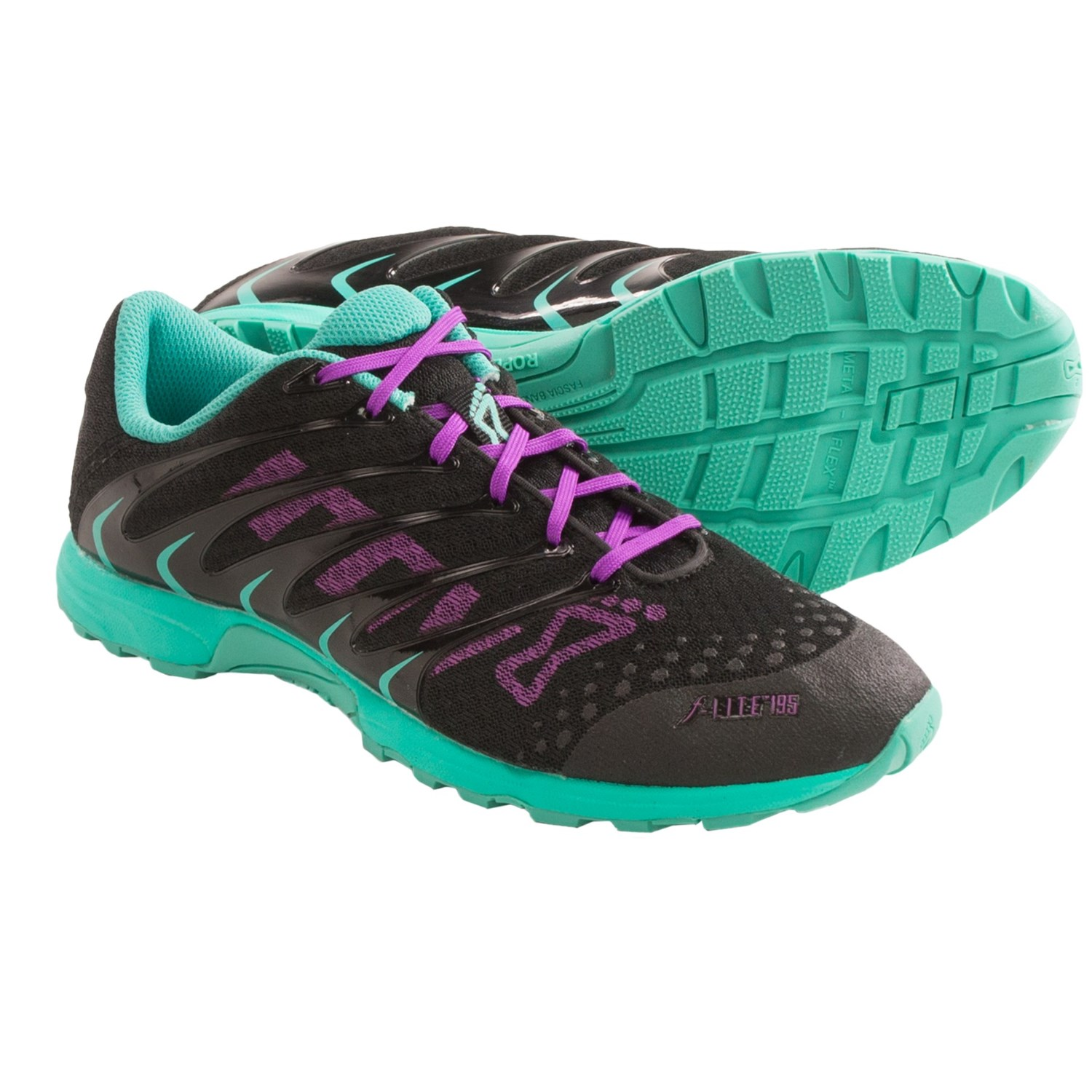 Inov-8 F-Lite 195 Cross Training Shoes (For Women) in Black/Teal