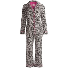 Insominax Cotton Poplin Pajamas - 2-Piece, Long Sleeve (For Women) in Leopard - Closeouts