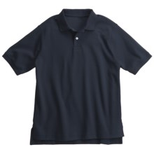 Interlock Cotton Polo Shirt - Short Sleeve (For Boys) in Indigo - 2nds