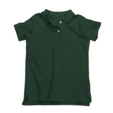 Interlock Cotton Polo Shirt - Short Sleeve (For Girls) in Dark Green - 2nds