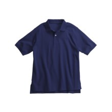 Interlock Cotton Polo Shirt - Short Sleeve (For Little Boys) in Dark Blue - 2nds