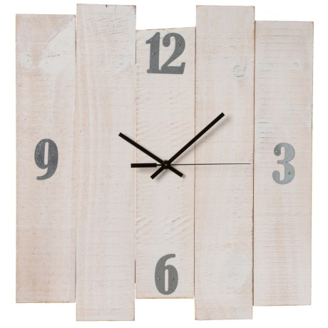 Image of International Distressed Wood Wall Clock - 16x17?