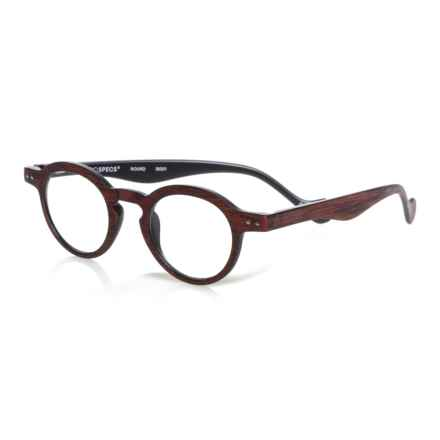 INTROSPECS Round Reading Glasses (For Men and Women) in Red