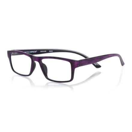 INTROSPECS Square Reading Glasses (For Men and Women) in Purple