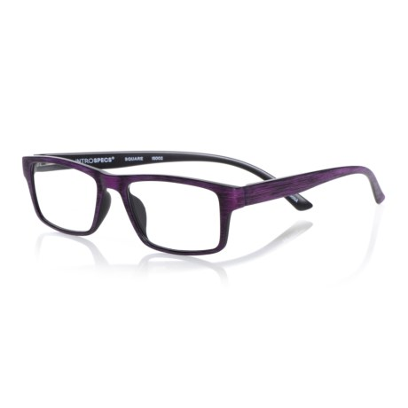 db13ff178 INTROSPECS Square Reading Glasses (For Men and Women) - Save 60%