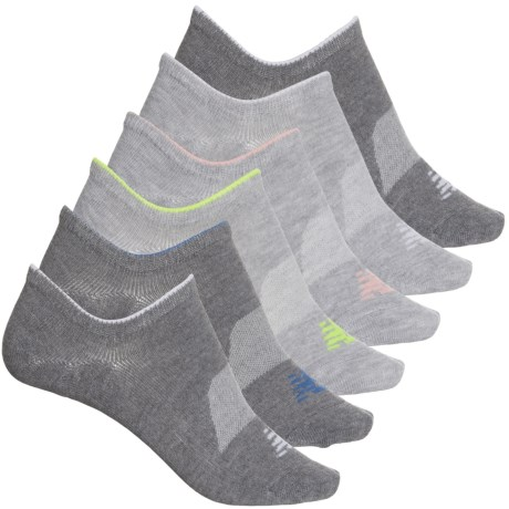 Invisible Liner Socks - 6-Pack, Below the Ankle (For Women) - GREY (M ) -  New Balance