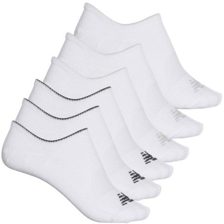 Invisible Liner Socks - 6-Pack, Below the Ankle (For Women) - WHITE (M ) -  New Balance