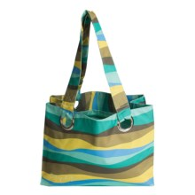 iota Large Beach Tote Bag - Nylon Canvas in Simplify - Closeouts