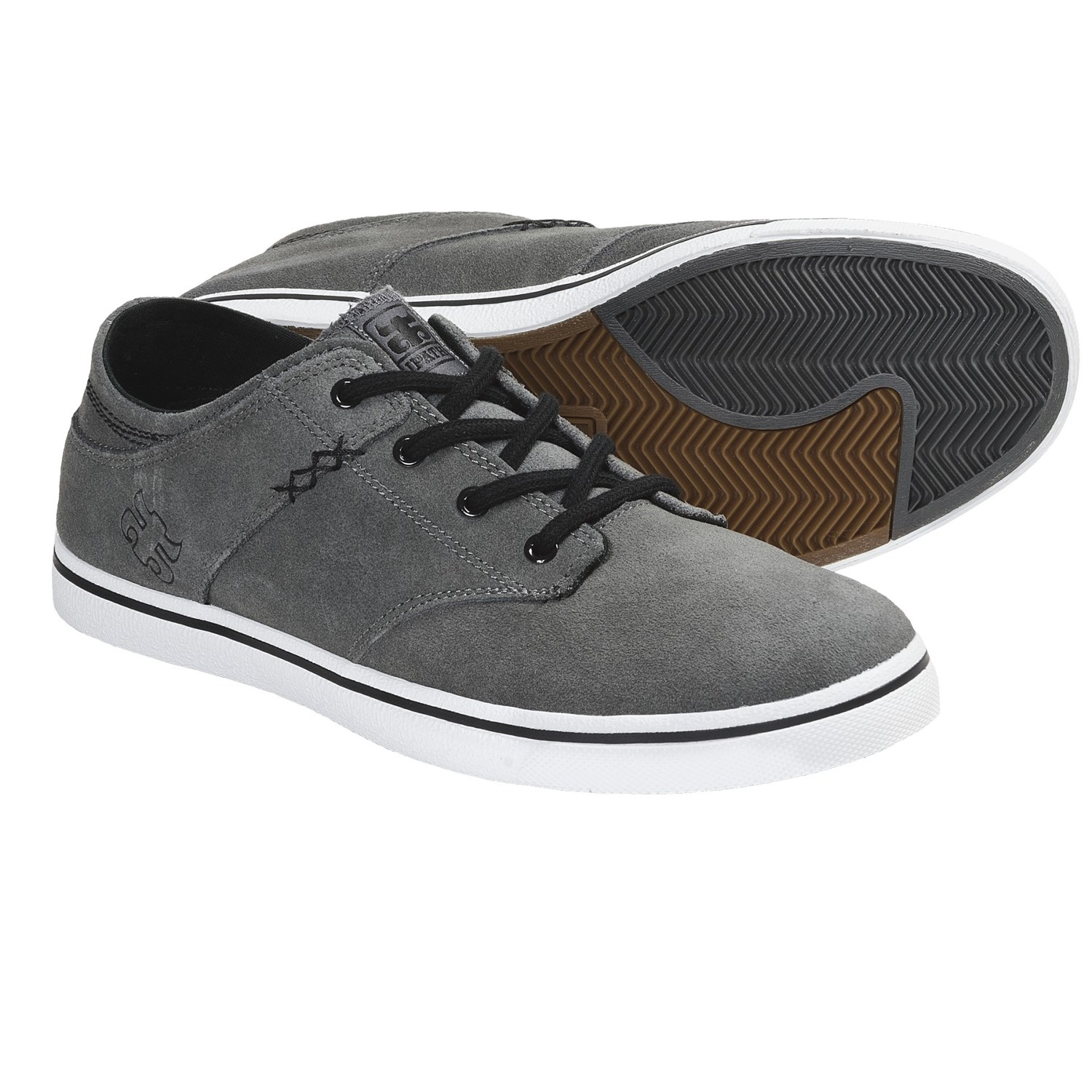 IPATH Nomad S Skate Shoes (For Men) in Carbon/White