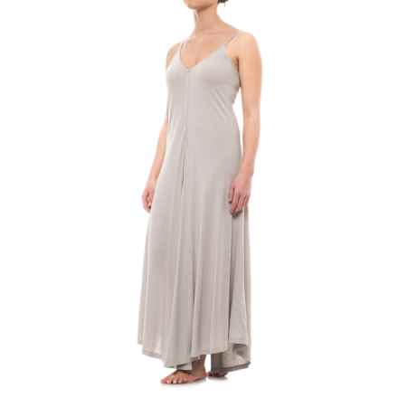 iRelax Jersey Nightgown - Sleeveless (For Women) in Visng Falling Snowflakes - Closeouts